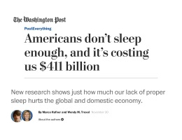 Washington Post – Οι συνέπειες του γεγονότος ότι δε κοιμόμαστε αρκετά